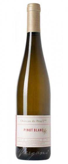 Pinot Blanc Chateau de Praz 2018 (75 cl) - Vin de Pays Suisse - Vergani.ch | Vergani & Co. AG White Wine, Bottle, Wine, Floor Texture, Things To Do, Flask, White Wines, Jars