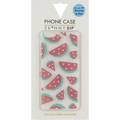 Skinny Dip Watermelon iPhone 6+ case (21 NZD) ❤ liked on Polyvore featuring accessories, tech accessories, multi, iphone stud case, iphone cover case, apple iphone case, cartoon iphone case and comic book