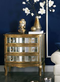 Crisanto Hall Chest - Gold - Home Decor Furniture Ideas