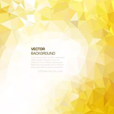 Golden Yellow Polygonal Triangular Background