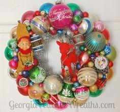 Vintage Christmas Ornament Wreath   www.georgiapeachezwreath…   Flickr