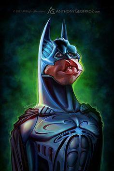 The Batman Evolution by Anthony Geoffroy, via Behance