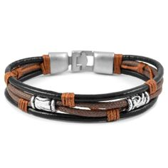 Buy Collin Rowe - Triple Nature Leather Bracelet for only Shop at Trendhim and get returns. We take pride in providing an excellent experience. Black Leather Bracelet, Black Bracelets, Bracelets For Men, Fashion Bracelets, Beaded Bracelets, Designer Mens Bracelets, Leather Bracelets, Men's Leather, Classic Leather
