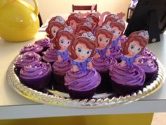Sofia the First 6th Birthday Cupcakes