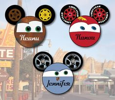 Cars Mouse Head Personalized for Disney Cruise Cabin Stateroom Door