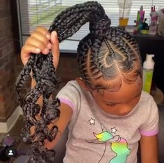 Black Baby Girl Hairstyles, Girly Hairstyles, Box Braids Hairstyles For Black Women, Braids Hairstyles Pictures, Toddler Hairstyles, Little Girl Braids, Black Girl Braids, Braids For Kids, Girls Braids
