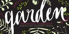 I Heart Typography Garden Font Family by from Myfonts.com   Personalized Gallery