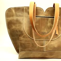 Camel Leather tote big leather bag Women bag  The by AyeletShachar