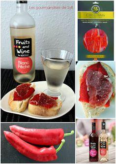 """Apéro d'été : tapas et vin fruité. Fruit et jambon """"5 Jotas"""" (en exclusivité chez Delhaize)"""