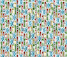 Kitchen Spoons fabric by circlesandsticks on Spoonflower - custom fabric