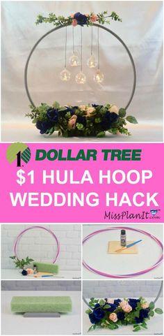 Dollar Tree Wedding Hacks. Wedding Ideas on a Budget. DIY wedding centerpieces.
