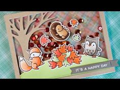 the Lawn Fawn blog: Lawn Fawn Video {9.6.16} A Jump for Joy Shaker Card by Lizzy!