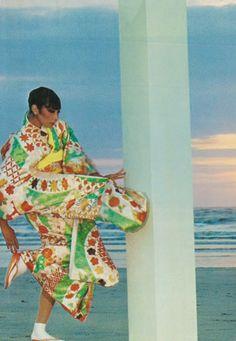 Sayoko Yamaguchi photographed by Guy Bourdin, Vogue Paris September 1974