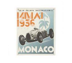 Kids Banners: Vintage Racecar Monaco Banner