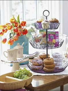 Great breakfast bar setup for overnight guest or morning bible study group