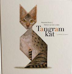 """Activiteiten rondom de 7 tangram stukken uit het boek """"Tangramkat""""."""