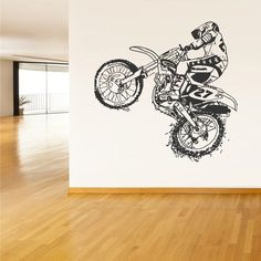 Wall Vinyl Sticker Decals Decor Art Bedroom Design Dirt Dirty Motocross Motorcycle Motogp Bike Motorbike (Z1557) StickersForLife http://www.amazon.com/dp/B00EPCQ82I/ref=cm_sw_r_pi_dp_UI6evb09WJXBN