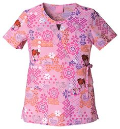 Style Code: A mock wrap top that features a keyhole neckline, an adjustable drawstring at side front waist, two patch pockets, back elastic and side vents. Center back length measures 26 Cherokee Woman, Cherokee Scrubs, Scrub Tops, Poplin, Men Casual, Prints, Mens Tops, Cotton, Nursing