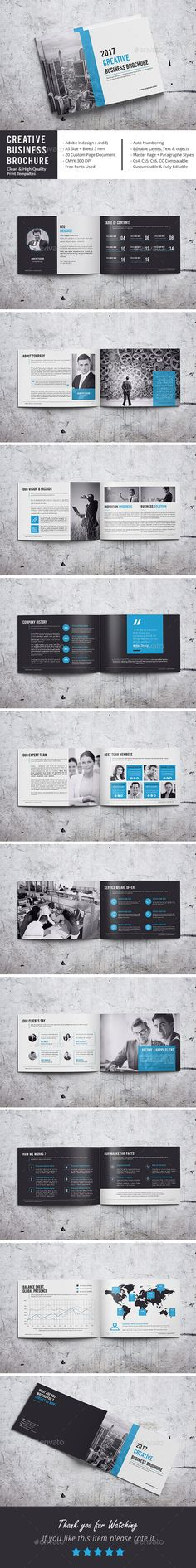 #Creative Business Brochure - Corporate #Brochures Download here: https://graphicriver.net/item/creative-business-brochure/18507664?ref=alena994