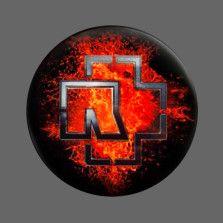 "Rammstein Magnet ""Lava Logo"" -56 mm-"