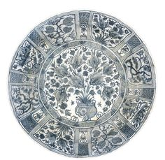 A monumental Safavid blue and white dish, Persia, 17th Century | Lot | Sotheby's