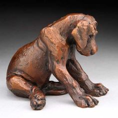 Louise Peterson - Great Danes - Getting Sleepy, bronze edition.