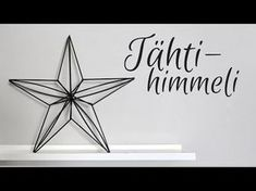 Tee se itse   Suuri kranssi muovipilleistä   Himmelikranssi - YouTube Christmas Love, Christmas Crafts, Christmas Decorations, Wire Crafts, Diy And Crafts, Diy Straw, Star Diy, Paper Flower Tutorial, Star Ornament