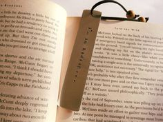 Customized handstamped bookmarks choose your words by PearlyCrowns