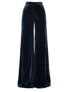 Velvet for ever whirling me into the 70's Wide-leg velvet trousers | Emilio Pucci | MATCHESFASHION.COM UK