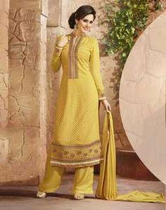 Semi-Stitched Kurta Set yellowAWUS22659apr