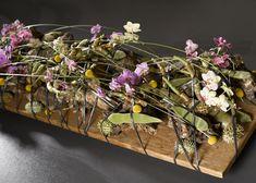 met takken en orchideeën