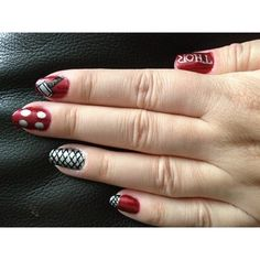 Thor Nail Art Gallery ❤ liked on Polyvore featuring nails