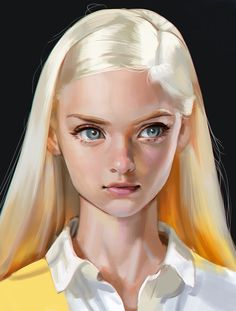 Studies by Seung Hee Han - The Art Showcase Digital Art Digital Art Girl, Digital Portrait, Portrait Art, Art Sketches, Art Drawings, Drawing Faces, Man Face Drawing, Digital Painting Tutorials, Digital Paintings