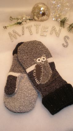 Sweater made into mittens
