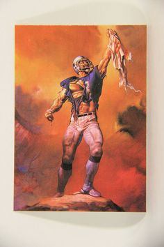 L010270 Boris Vallejo 1991 Card / Football Hero 1982 - Card #73 / ARTWORK