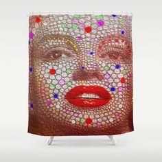 Amazon.com: Society6 - Marilyn Shower Curtain by Brian Raggatt: Home & Kitchen