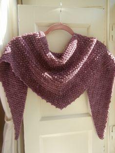 uva shawl - made using dc and tc stitches