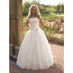 Modest Wedding Dress - Ball Gown - P829m | Beautifully Modest | First in fashion, Elegant in design, Modest by choice and other apparel, accessories and trends....