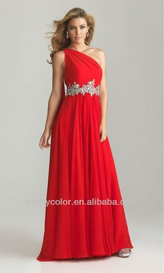 red and crystal bridesmaid dresses