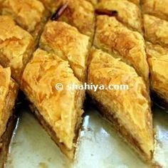 A delicious sweet Syrian Baklava Recipe omg my fav