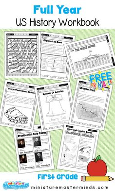 American History Work Book Ages 6 to 8 Free Printable Worksheets and Activities