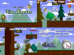 Time Hunter is an adventure that allows kids to work on many skills involving time. Look out for wasps, spiders, and wolves as you search for the clock with the nearest hour, quarter hour, half hour, 5 minutes, or nearest minute. More advanced students can even work on elapsed time. Time Hunter can also be played on ANY device! RoomRecess.com