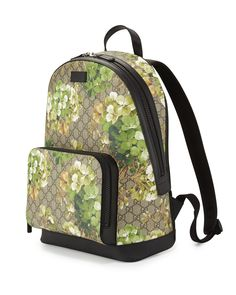 4bdebcfc3 Gucci Gg Blooms Canvas Backpack in Blue | Lyst Buy Gucci, Canvas Backpack,  Shoulder