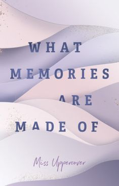 Premade Cover - missuppercover Memories, Author, Memoirs, Souvenirs, Remember This