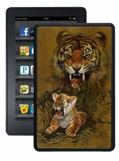 Safeguard your Kindle from dirt and grime with this modified, form-fitting case. This protective cover has soft & protective neoprene on the inside and out. Add personality to your reader with this cool Kindle cover.Hot Buckles™ introduces Tiger and Cub Kindle Fire Case .This case sleek and lightweight case is the perfect way to show off your convention style.
