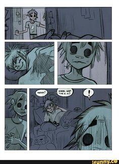 #gorillaz, #2d, #noodle, #comic, #part1
