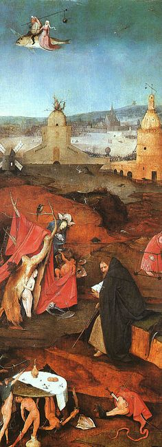 Hieronymus Bosch: Right Panel - The Temptation of St. Anthony
