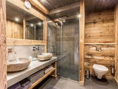 Farmhouse master bathroom decorating, bathroom inspiration, and master bathroom suggestions. A round up of dream master bathroom designs, rustic bathroom some ideas and methods for styling your powder rooms. Rustic Bathroom Decor, Rustic Bathrooms, Bathroom Interior, Modern Bathroom, Brown Bathroom, Minimal Bathroom, Cabin Bathrooms, Dream Bathrooms, Master Bathrooms