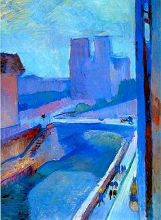 View of the Notre Dame late evening By Henri Matisse