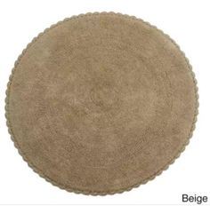 Decorate your Bathroom/Home with this Saffron Fabs Crochet Lace Boarder 36 inches Round Reversible Cotton Bath Rug. This rug features 215 GSF weight, a Handmade Crochet Lace Border that adds a luxury, relaxed feel to your home. This rug is available Hand Crochet, Crochet Lace, Hand Knitting, Bath Linens, Bath Rugs, Kitchen Area Rugs, Linen Store, Crochet Borders, Lace Border